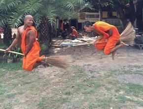Even Monks Want to Get in on Some Quidditch