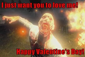 I just want you to love me!  Happy Valentine's Day!