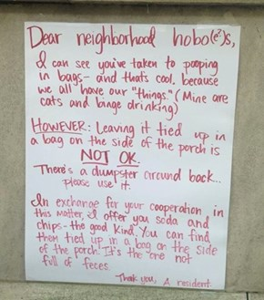 If These Are Your Neighbors, Time to Find New Neighbors