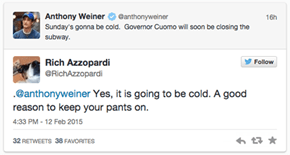 Anthony Weiner Tries to Get Catty About New York's Governor, Gets Burned Immediately