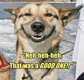 You know it was a good fart when it makes the dog smile...