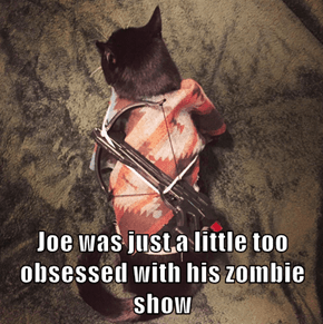 Joe was just a little too obsessed with his zombie show