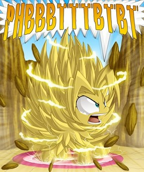 Flufflepuff goes Super Sayan