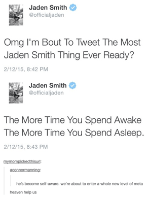 How Can Twitter be Real if Jaden Smith isn't Real?