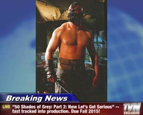 "Breaking News - ""50 Shades of Grey: Part 2: Now Let's Get Serious"" --fast tracked into production. Due Fall 2015!"