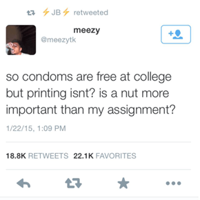 College: Where Ink is More Expensive Than Rubber