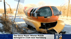 This Oscar Mayer Wienermobile is One of the Victims of the Winter Snowstorms