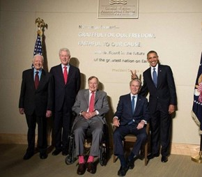The Last Six Presidents Together in One Photo