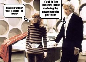 Ok Doctor who or what is that in The Tardis?