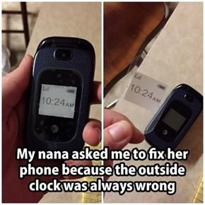 Nana Isn't Ready for a Smart Phone, I Don't Think