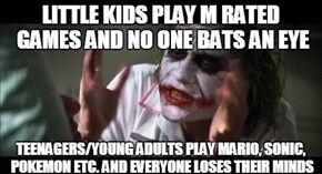 Kids Think Playing an M Rated Game Makes Them Mature