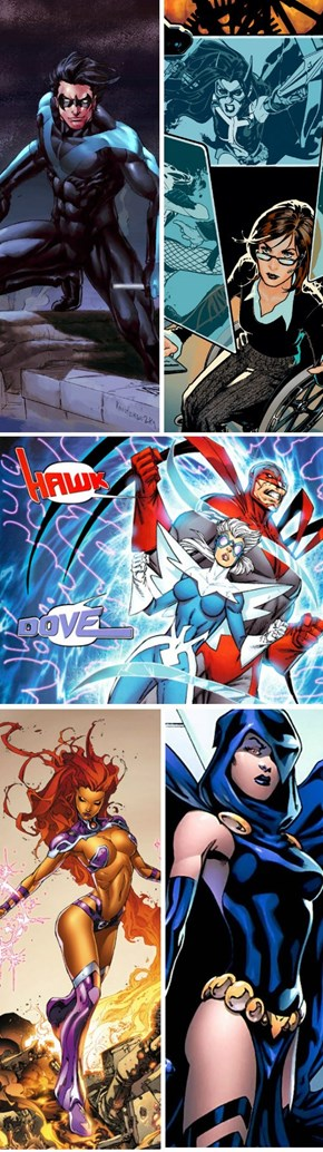 """TNT's Live Action """"Teen Titans"""" Series' Unveiled Lineup"""