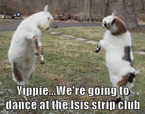 Yippie...We're going to dance at the Isis strip club