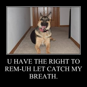 U HAVE THE RIGHT TO REM-UH LET CATCH MY BREATH.