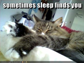 sometimes sleep finds you