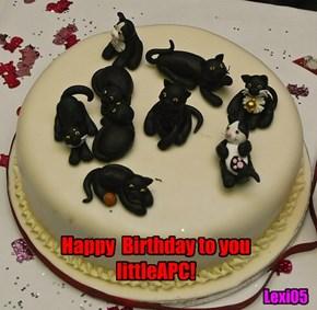 Happy  Birthday to you littleAPC!