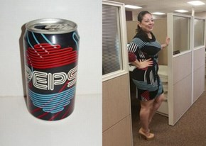 """Going For That """"Vintage Pepsi Can"""" Look"""