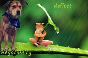 deflect  negatibbity