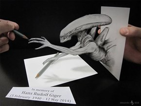 """The Scariest """"Alien"""" Fan Art Jumps Out of the Page"""
