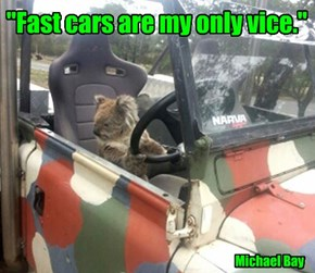 """Fast cars are my only vice."""