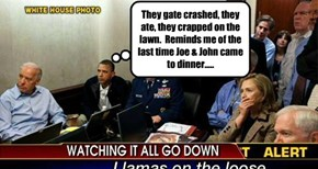 They gate crashed, they ate, they crapped on the lawn.  Reminds me of the last time Joe & John came to dinner.....