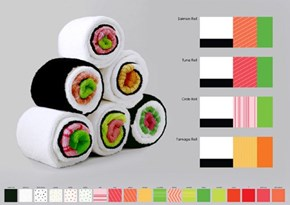 Roll Up These Towels Properly and They Make Little Sushi Rolls!