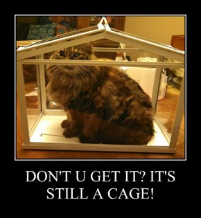 DON'T U GET IT? IT'S STILL A CAGE!