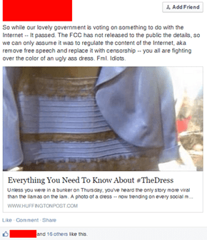 Meanwhile, Nutjobs Think The Dress Was a Government Conspiracy