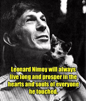 Spock lives on forever.