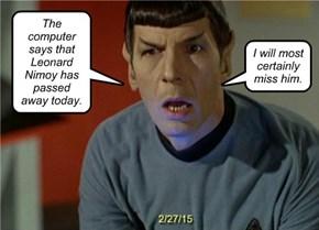 Live Long & Prosper, Mr. Spock
