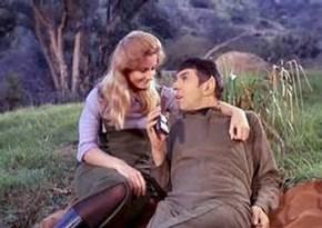 Leonard Nimoy and Jill Ireland - hope you walk the paradise earth together. - Revelation 21:4