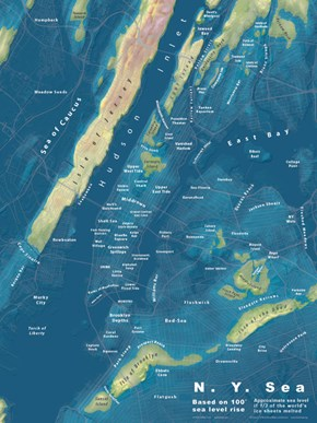 These Terrifying Maps Show What Major Cities Would Look Like if Sea Levels Rose Only a Few Meters