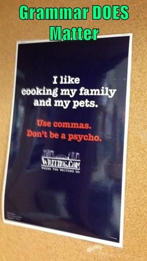 Grammar DOES Matter