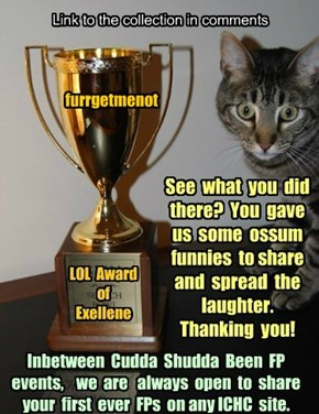 Thank you furrgetmenot for participating in Cudda Shudda Been FP, Jan 2015!