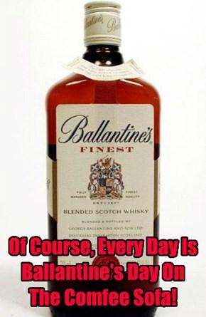 Happy Ballantine's Day To The Comfee Sofa.