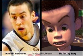 Marshall Henderson Totally Looks Like Sid for Toy Story