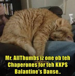 Mr. AllThumbs iz one ob teh Chaperones for teh KKPS Balantine's Danse..