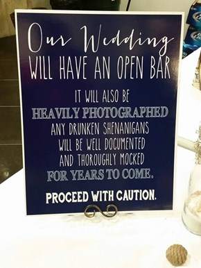 "Beware the Phrase ""Open Bar"""