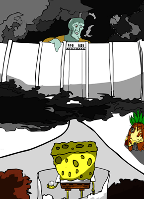 Attack on Squidward