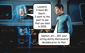 Captain's Log 022715: Damn Spock beats me again.