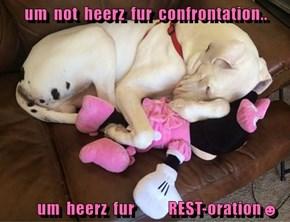 um  not  heerz  fur  confrontation..          um  heerz  fur           REST-oration☻