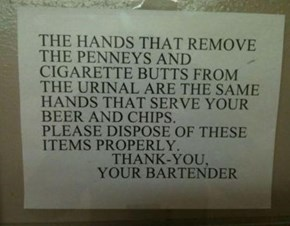 And Bartenders Don't Wash Their Hands