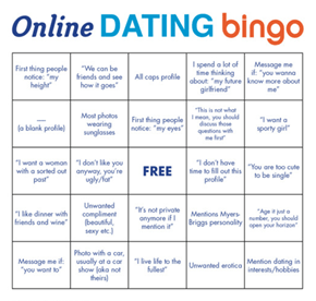 It's Time to Play Online Dating Bingo!