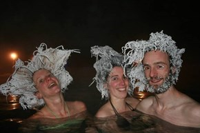"This Canadian Hot Spring Holds ""Frozen Hair"" Contests"