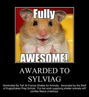 AWARDED TO SYLVIAG