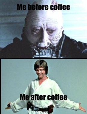 Before and After Morning Coffee