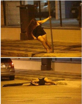 Late Night Pole Dancing Gone Wrong