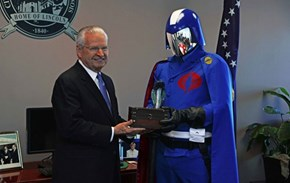 Honor of the Day: Illinois Mayor Gives Cobra Commander Key to the City