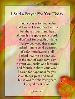 Prayer for Mamawalker