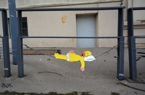 OakOak Spreads the Simpsons on the Streets of France